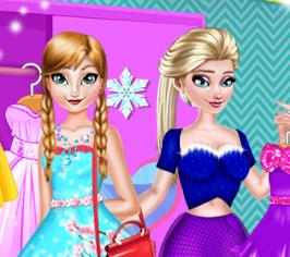 Принцессы Эльза и Анна модные соперники