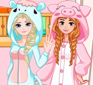 Двухъярусная кровать для принцесс  Эльзы и Анны
