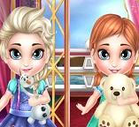 Малышки принцессы Анна и Эльза больны
