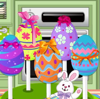 Пирожные в виде пасхального яйца