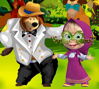 Маша и Медведь. Праздничные одевалки
