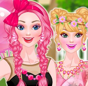 Барби в розовом стиле