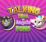 Говорящие кошки Анжела и Том играют в пинг— понг