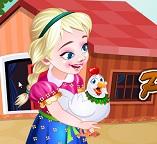 Принцесса Анна ухаживает за курицей