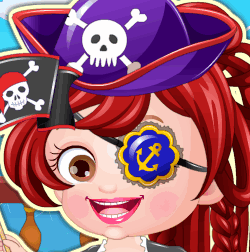 Малышка Хейзел в роли пирата
