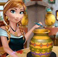 Принцесса Анна занимается гончарным ремеслом