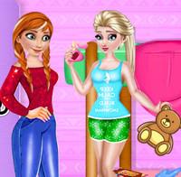 Принцессы Эльза и Анна играют в прятки