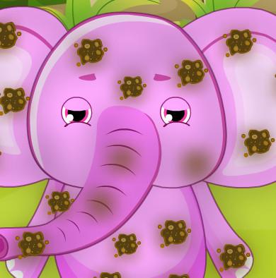 Уход за грязным слоненком Яшей