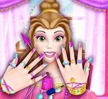 Принцесса Белль посещает маникюрный салон