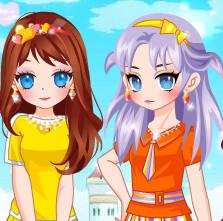 Радуга стиль для девочек Майя и Роза