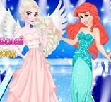 Принцессы  Диснея  Эльза и Ариэль— супер модели