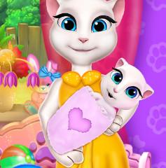 Детская краватка для дочурки кошки Анжелы
