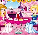 Чайная вечеринка принцесс Золушки и Авроры