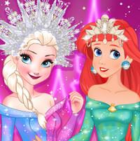 Эльза, Ариэль и Жасмин участвуют в Дисней конкурсе  красоты