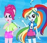 Пляжные одевалки для Пинки Пай и Радуги Дэш