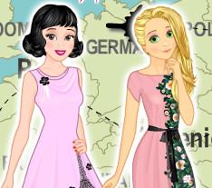 Принцессы Жасмин и Рапунцель путешественницы