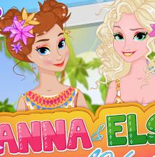 Принцессы Анна и Эльза: отдых в тропиках