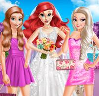 Эльза и Анна свадебные подруги невесты Ариэль