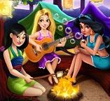 Принцессы Рапунцель, Мулан и Жасмин в летнем лагере