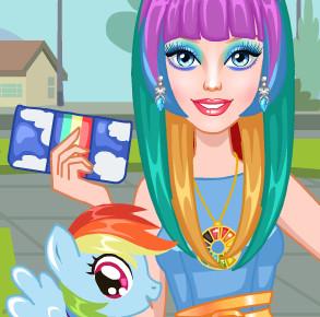 Макияж Барби в стиле мой маленький Пони