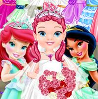 Малышки Барби, Жасмин и Ариэль играют в свадьбу