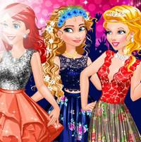 Принцессы Анна , Ариэль и Золушка на выпускном балу