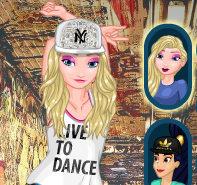 Уличные танцы. Кто круче: Эльза и Жасмин или Анна и Белль
