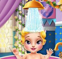 Купание малышки принцессы