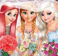 Игра Принцессы Диснея: Невеста Анна  и ее подружки Эльза и Ариэль