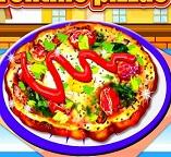 Пицца  по-флорентийски с яйцами
