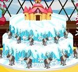 Готовим великолепный Новогодний торт с Эльзой и Анной