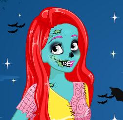 Принцессы Ариэль и Рапунцель на конкурсе  Хэллоуина