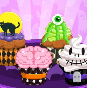 Страшненькие кексы на праздник Хэллоуин