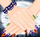 Жуткий дизайн ногтей (нейл-арт) для девушки монстра