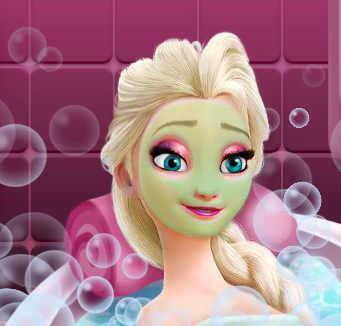 Спа ванна с пузырями для принцессы Эльзы