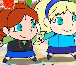 Принцессы Эльза и Анна спасают Олафа