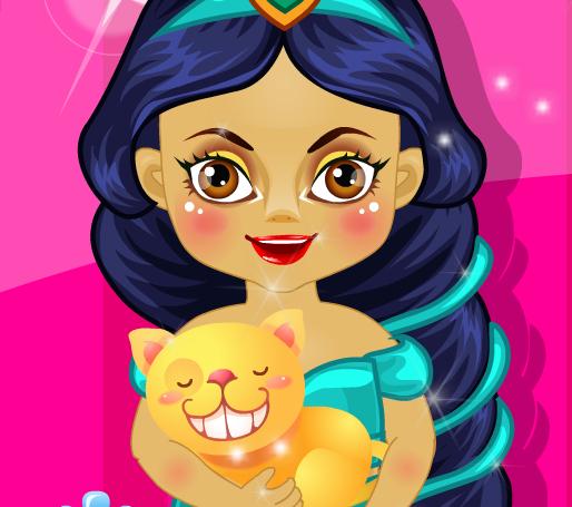 Малышка принцесса Жасмин садовник