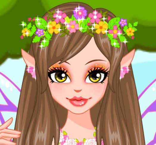 Прическа для сказочной принцессы феи