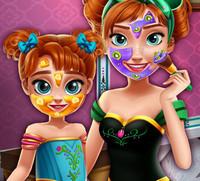 Реальный макияж для принцессы Анны и ее дочурки