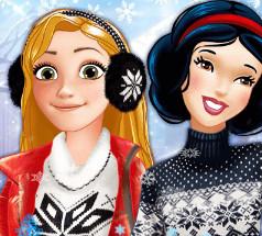 Зимние развлечения принцесс Диснея