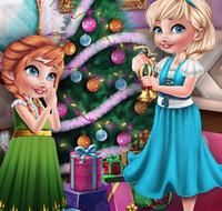 Рождество для малышек Эльзы и Анны