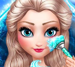 Новогодний макияж для королевы Эльзы