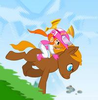 Гонки на маленькой Пони