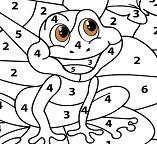 Раскраска-головоломка с лягушкой