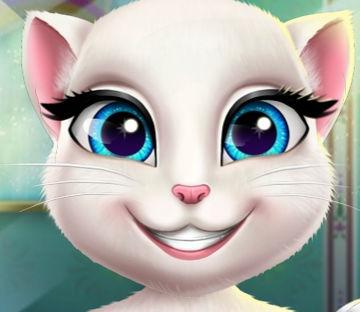 Реальный дантист для кошки Анжелы
