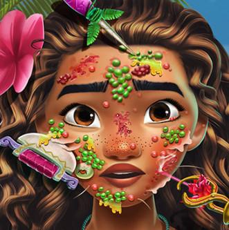 Лечим лицо принцессы Моаны