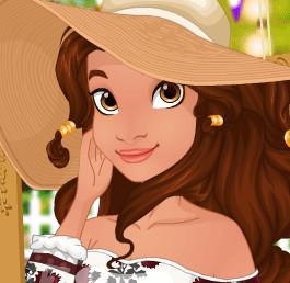 Принцесса Моана устраивает вечеринку в саду