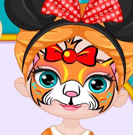 Макияж в виде живописи на лице малышки Анны
