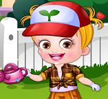 Одевалка с малышкой Хейзел в роли садовника