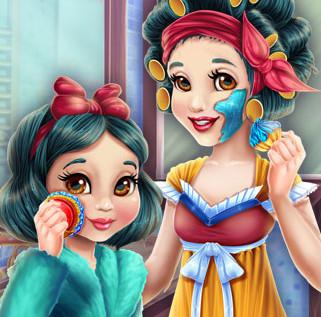 Реальный макияж для Белоснежки и ее дочурки